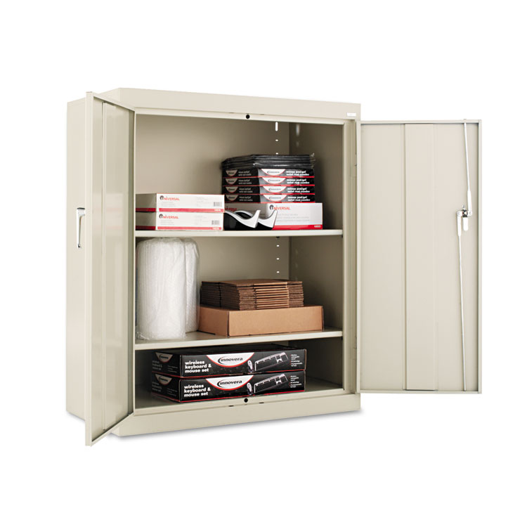 Alera assembled 42 high storage cabinet w adjustable - Putty colored kitchen cabinets ...