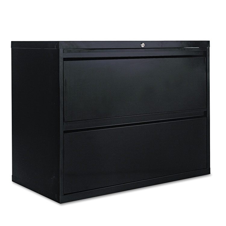 Alera Two Drawer Lateral File Cabinet 36w X 19 1 4d X 28 3 8h Black Alera Details