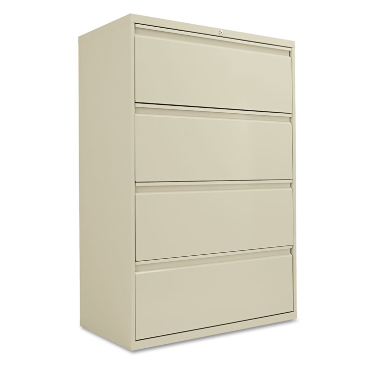 alera four drawer lateral file cabinet 36w x 19 1 4d x 53 1 4h