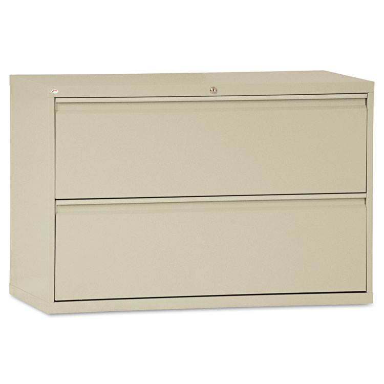 Alera® Two-Drawer Lateral File Cabinet, 42w x 19-1/4d x 28-3/8h ...