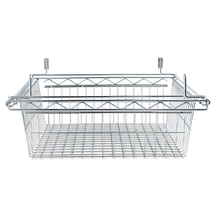 Alera® Sliding Wire Basket For Wire Shelving, 18w x 24d x 8h, Silver ...