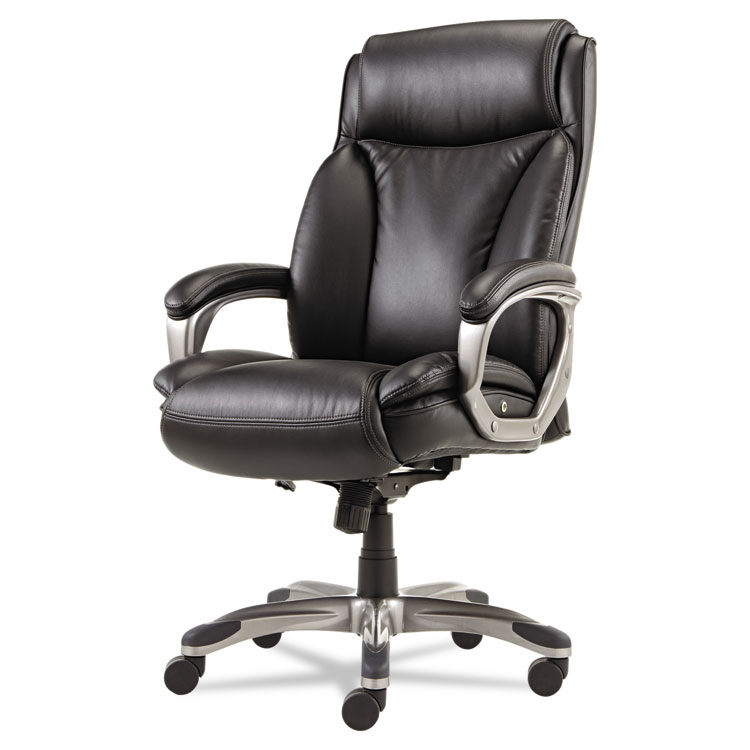 alera veon series executive high back leather chair w coil spring