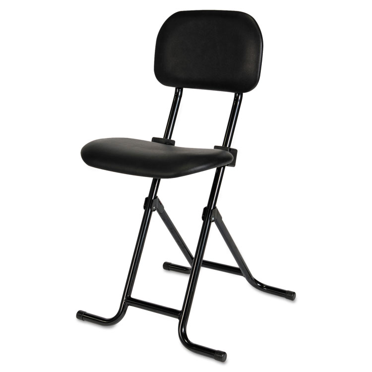 alera plus il series height adjustable folding stool black alera details. Black Bedroom Furniture Sets. Home Design Ideas
