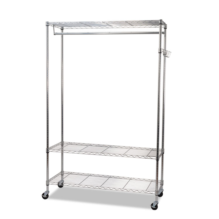 Wire Shelving With Casters | Alera Wire Shelving Garment Rack Coat Rack Stand Alone Rack W