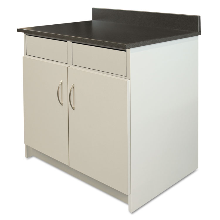 Alera Plus™ Hosp Base Cabinet, 2 Door/2 Flipper Doors, 36 x 24 3/4 ...