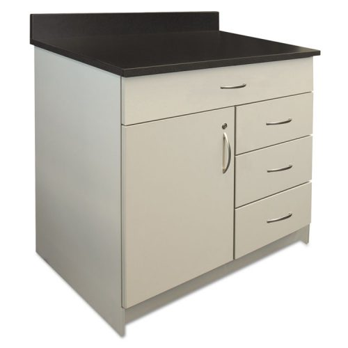 superior quality 8c589 7d6c8 Alera Plus™ Hosp. Base Cabinet, Four Drawer/Door, 36 x 24 3/4 x 40,  Gray/Granite Nebula