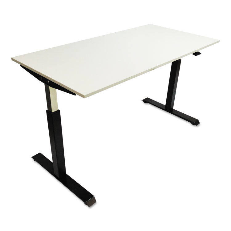 Alera Pneumatic HeightAdjustable Table Base To - Adjustable height training table