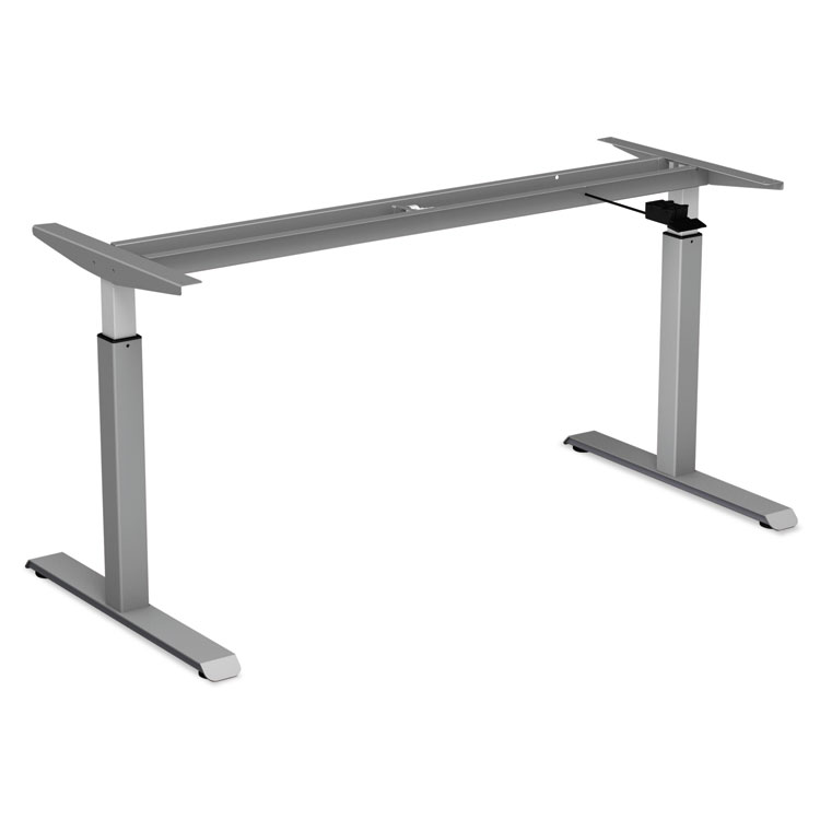 Alera pneumatic height adjustable table base 26 1 4 to 39 3 8 high gray - Table basse ajustable ...